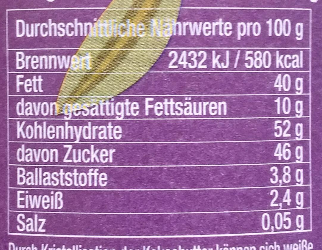 Weißer Kokosaufstrich vegan - Nutrition facts - de