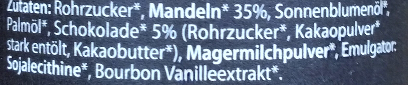Mandel 35% Creme - Ingrédients - de