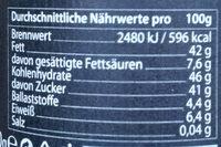 Mandel 35% Creme - Informations nutritionnelles - de