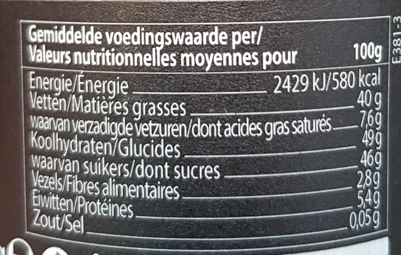 Rhapsody Crunchy Almond - Nutrition facts - fr