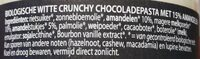 Rhapsody crunchy almond & white - Ingrediënten - nl