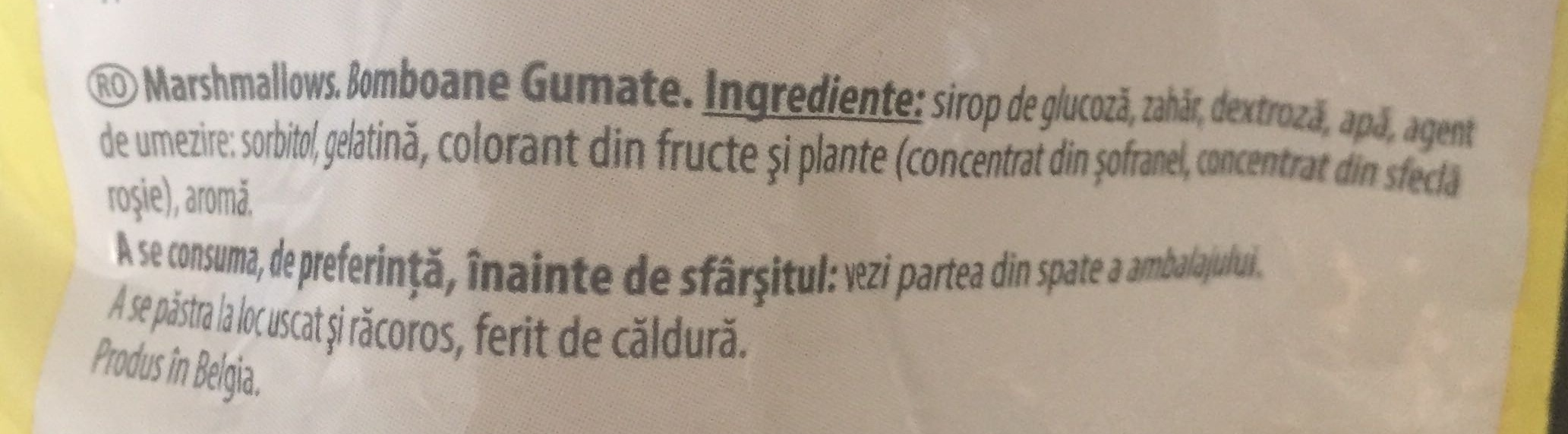 Mallows - Ingrédients