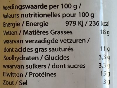 Cheese Spread naturel - Nutrition facts - nl