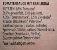 Tomato Basilikum - Zutaten - de