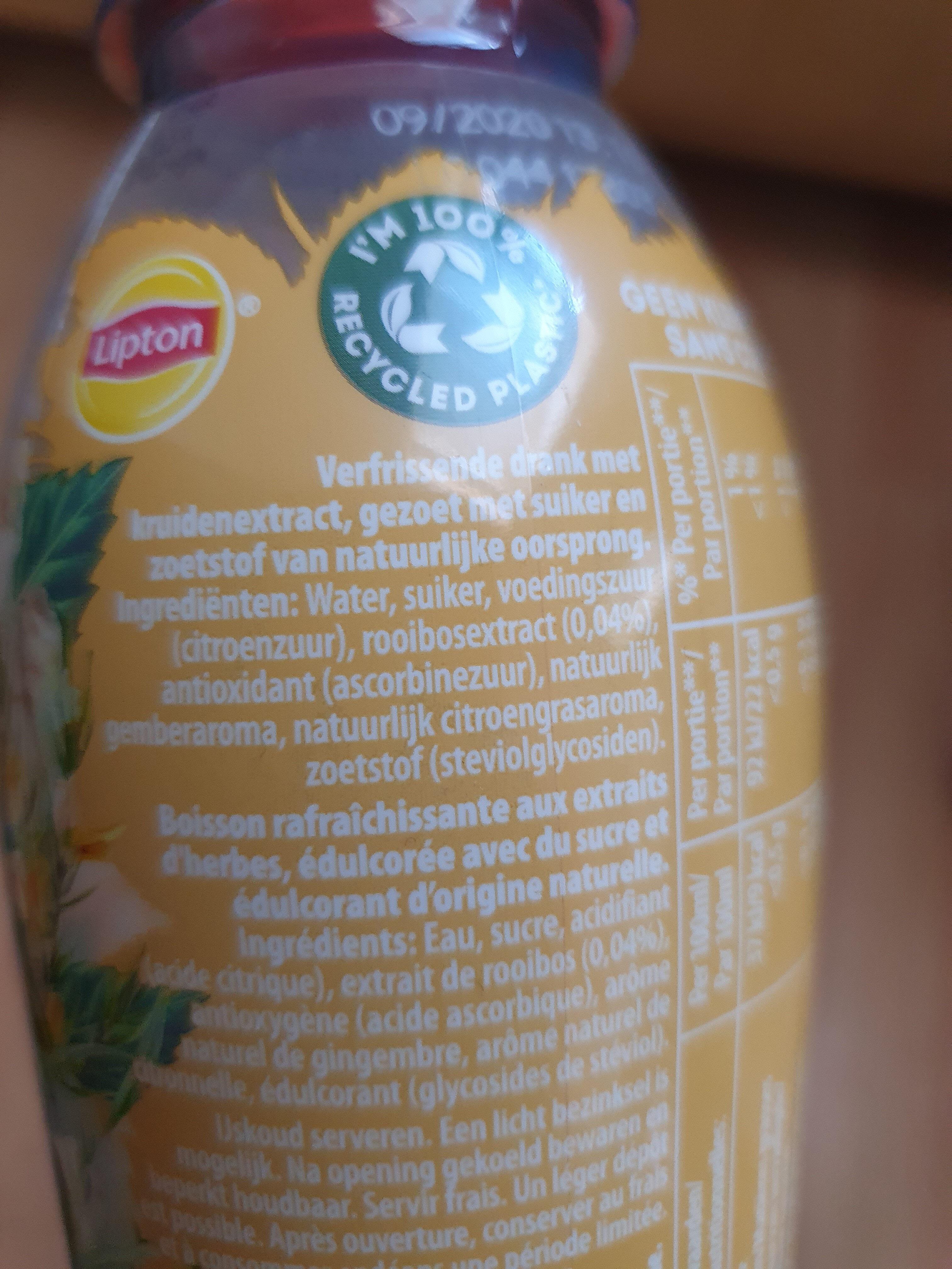 Herbal ice tea - Ingrediënten - en