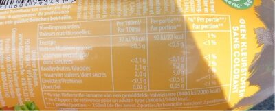 Herbal ice tea - Voedingswaarden - en