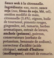 Sauce Lemongrass - Ingrediënten