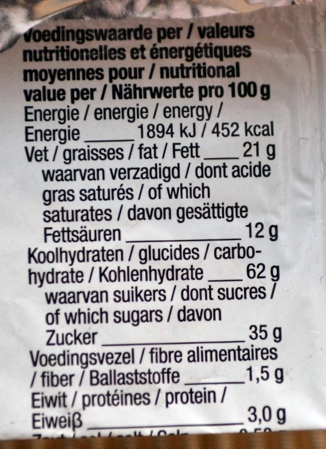 Stroopwafel Caramel - Voedingswaarden - fr