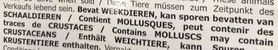 Moules fraîches de Hollande - Ingrédients