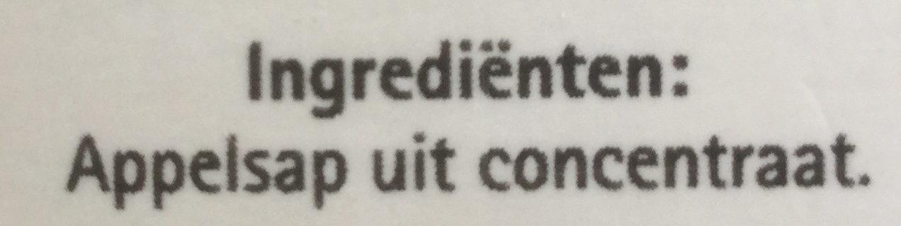 Appelsap uit concentraat - Ingrediënten