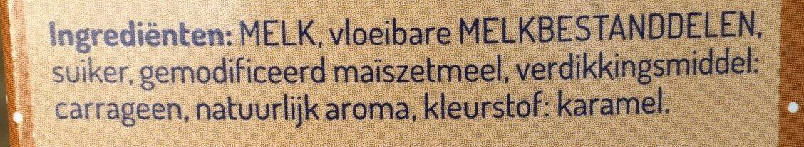 Karamel vla - Ingredients - nl