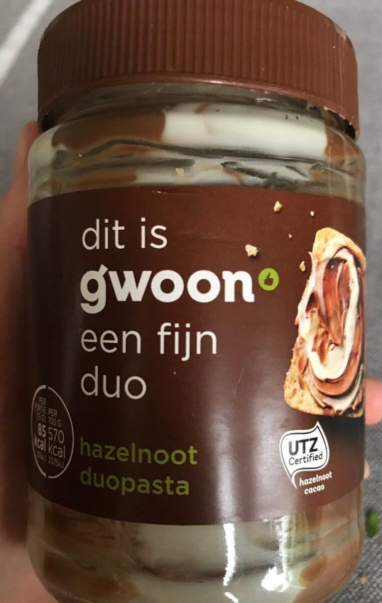 Hazelnoot duopasta - Product - nl