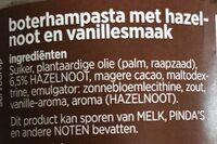 Hazelnoot duopasta - Ingredients - nl