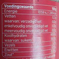 Aardbeien extra jam - Nutrition facts - nl