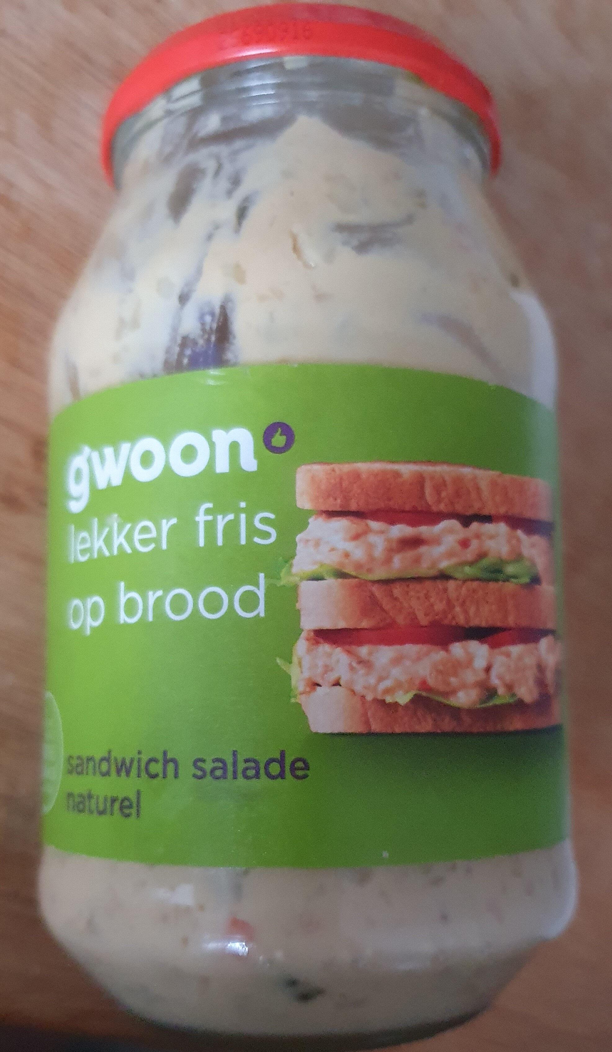 Sandwich salade naturel - Product - nl