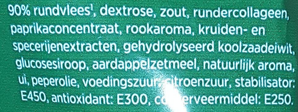 Runderrookworst - Ingrediënten - nl