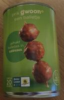 Gehaktballetjes in Satésaus - Product - nl