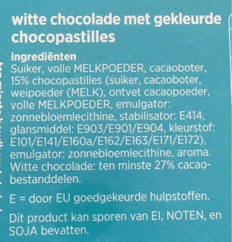 Witte regenboog chocolade - Ingrediënten - nl