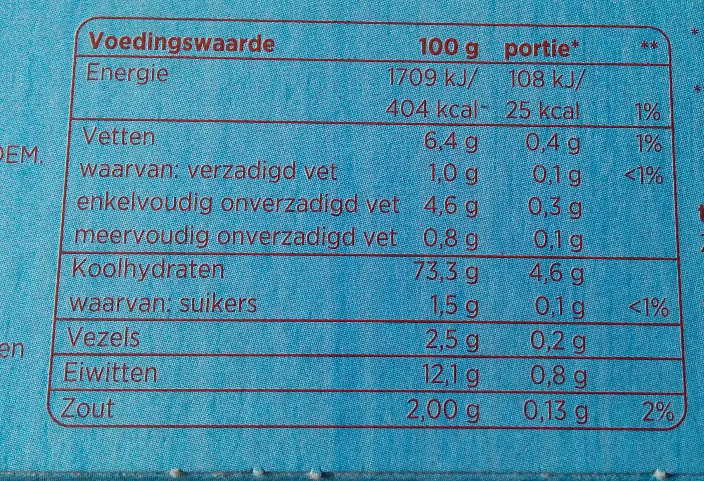 Soepstengels naturel - Nutrition facts - en