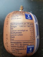 Saksische Leverworst - Nutrition facts - en