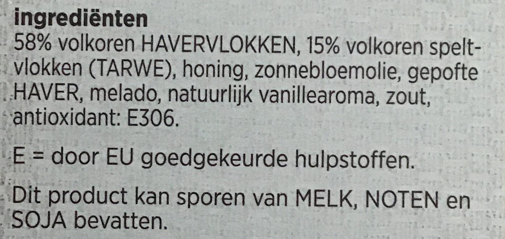 Granola naturel - Ingredients - nl