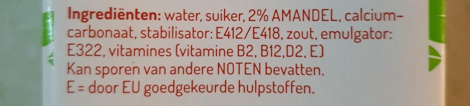 almond milk - Ingredients - en