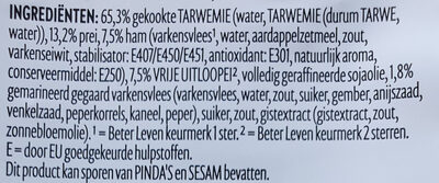 Oosterse Keuken Bami Goreng - Ingrediënten - nl