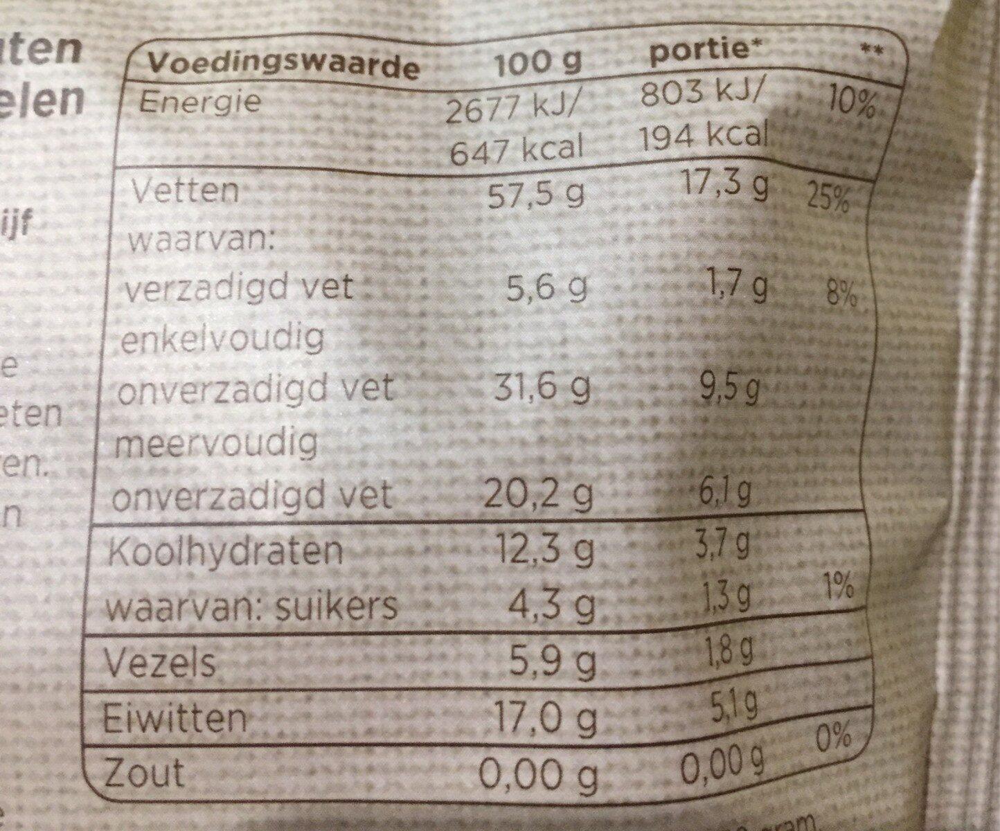 Notenmix - Voedingswaarden - es