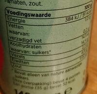 tomatenpuree, dubbel geconcentreerd - Voedingswaarden - nl