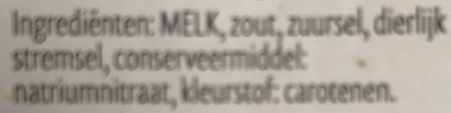 Goudse 48+ Belegen - Ingredients - nl