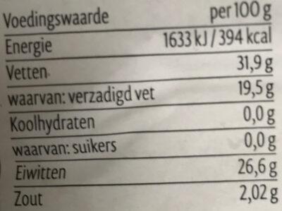 Goudse 48+ Belegen - Nutrition facts - nl