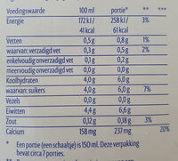 Verse Magere Yoghurt 0% vet - Nutrition facts - nl