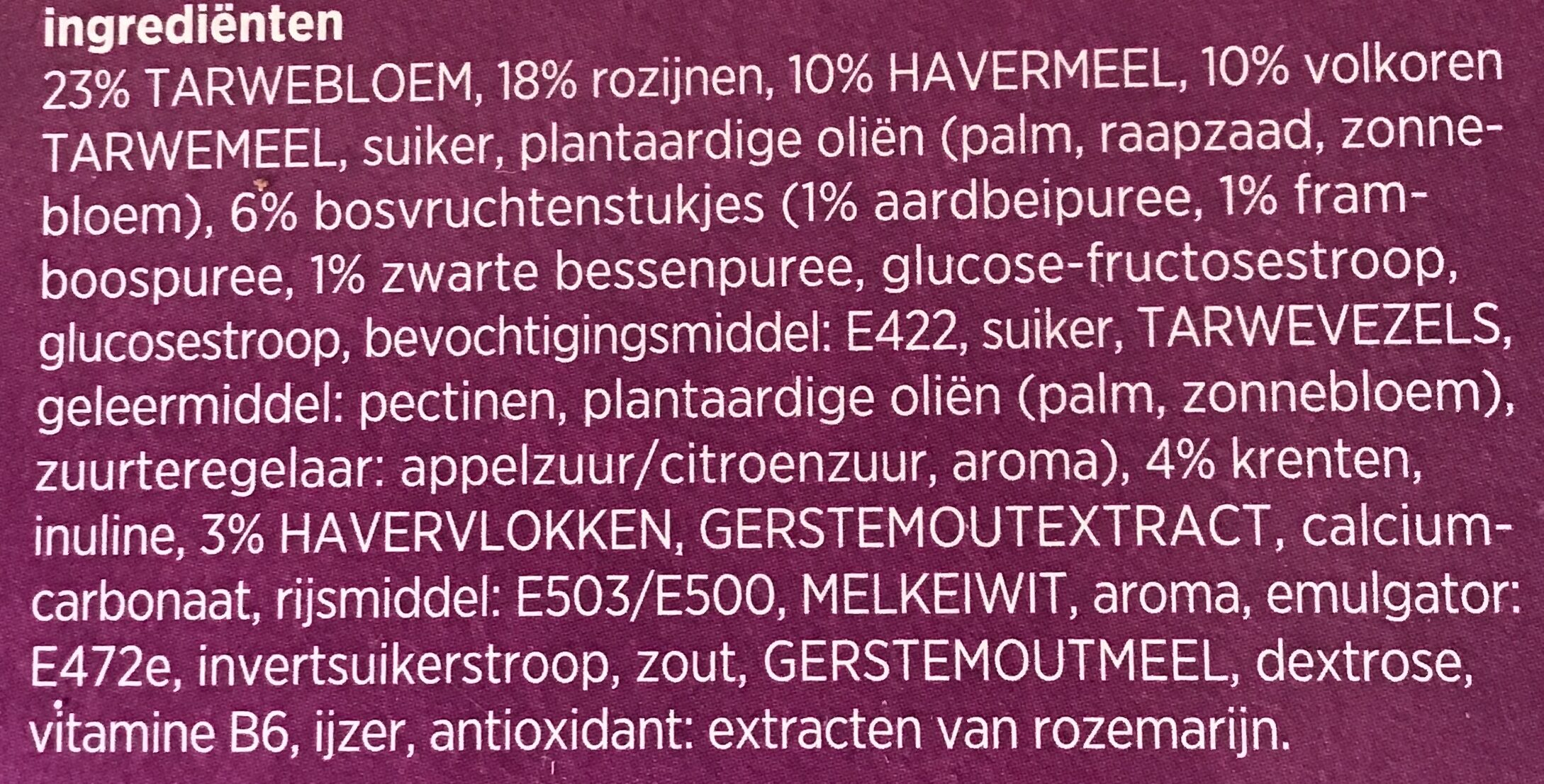 Meergranenbiscuits - Ingredients - nl