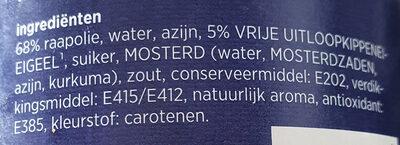 Mayonaise g'woon, romig - Ingredients - nl