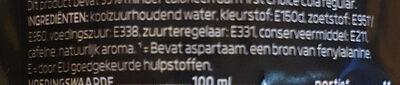 cola zero sugar, no calories - Ingrediënten - nl