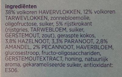 Krokante muesli 4 noten - Ingredients - nl