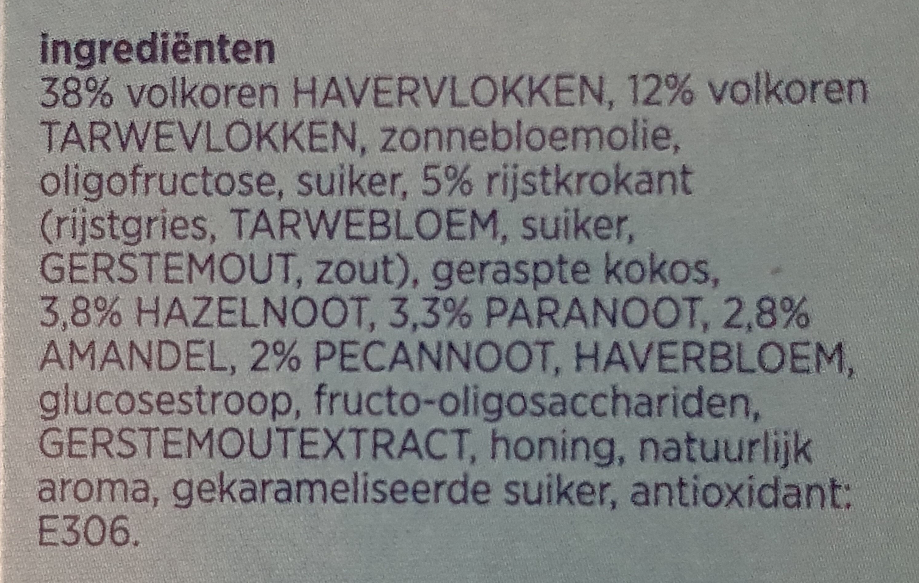 Krokante muesli 4 noten - Ingrediënten - nl