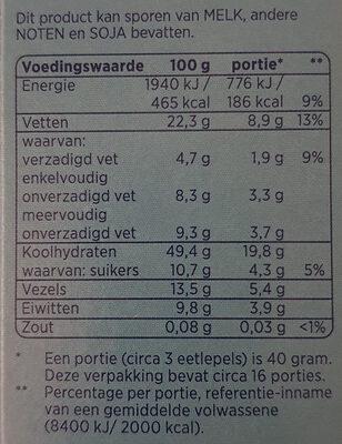Krokante muesli 4 noten - Voedingswaarden - nl