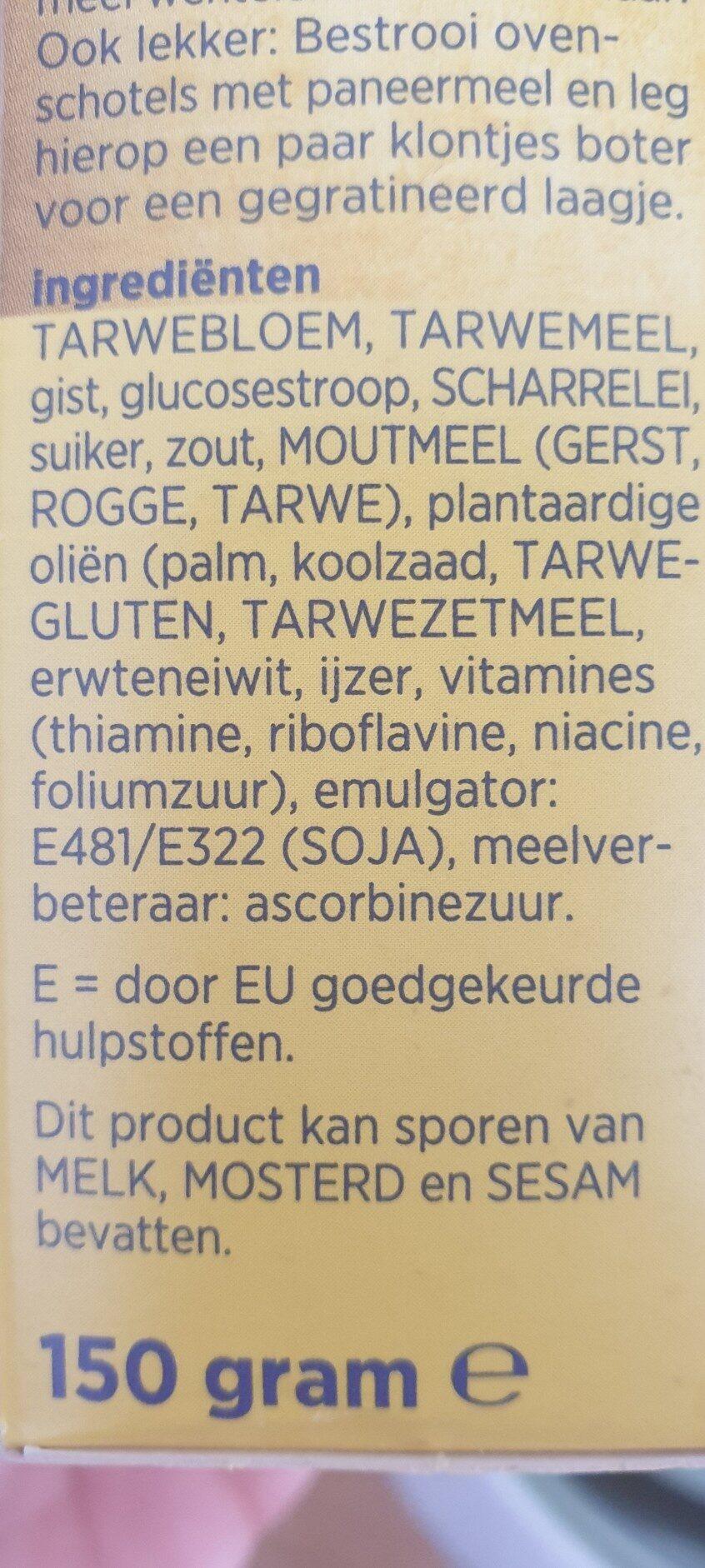 paneermeel - Ingredients - en