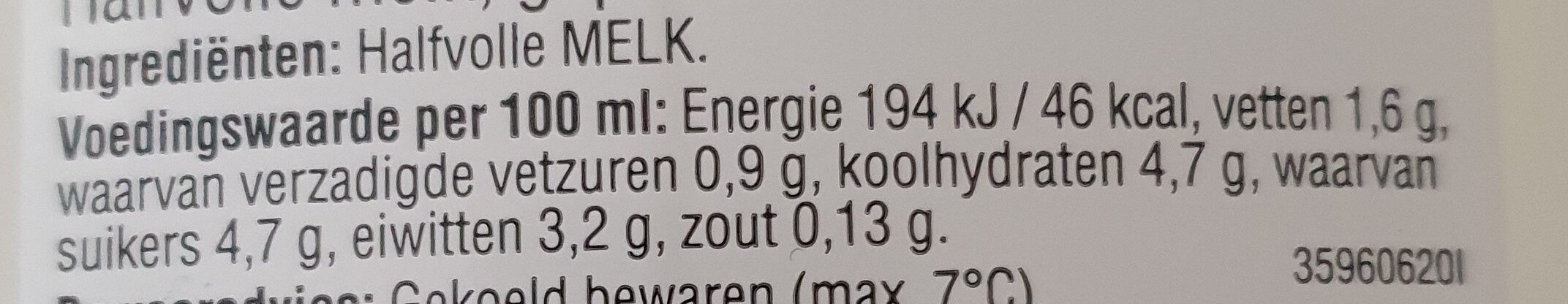 Halfvolle Melk - Ingredients - nl