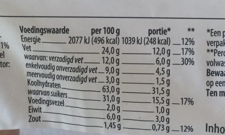 Amandelspeculaasbrokken - Voedingswaarden
