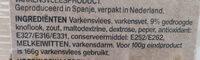Spaanse Fuet Knoflook - Ingrédients - nl