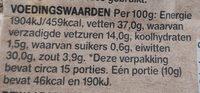 Spaanse Fuet Knoflook - Informations nutritionnelles - nl