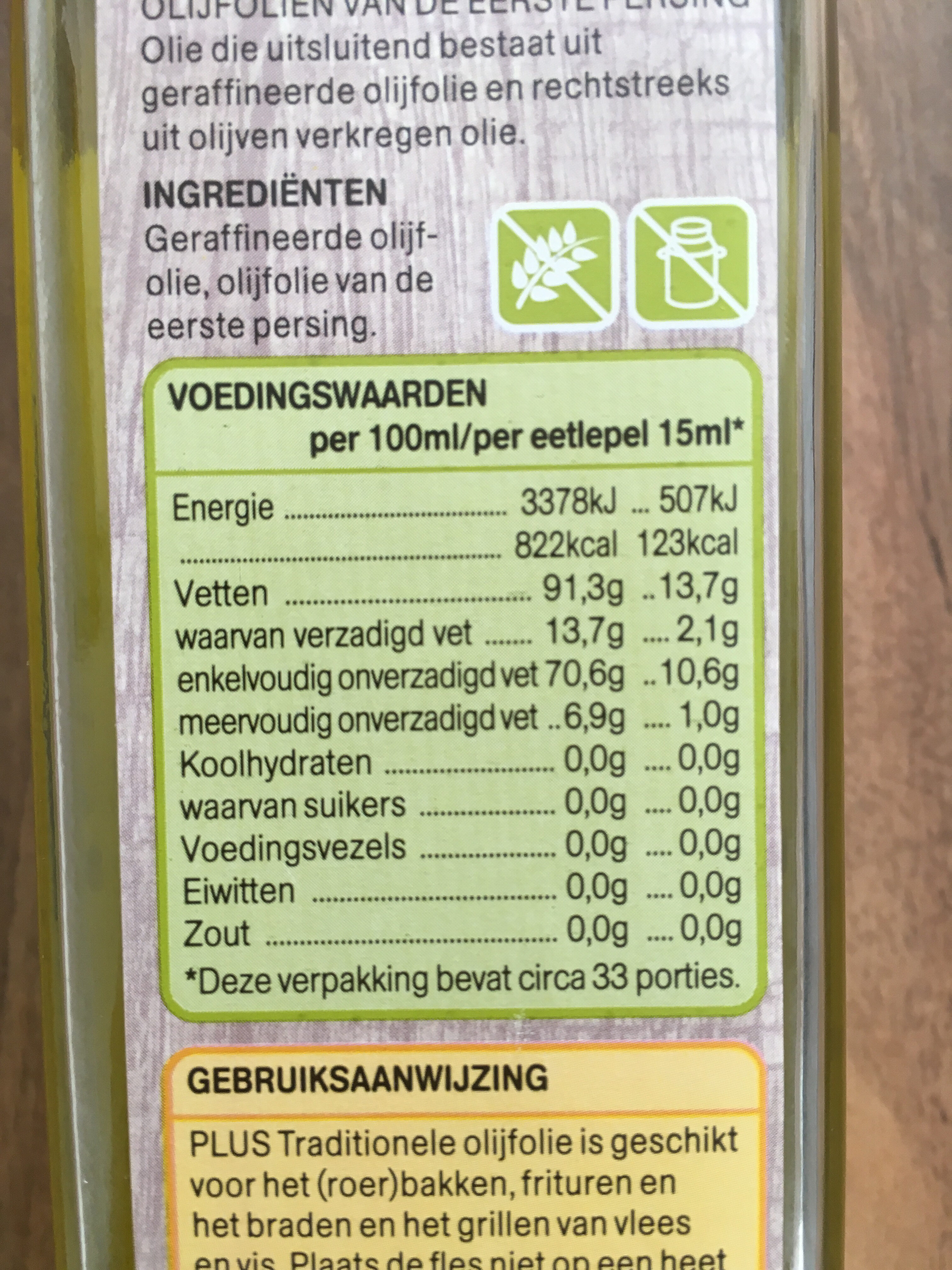 Traditionele Olijfolie - Nutrition facts