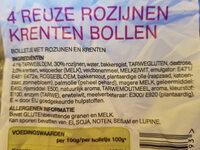 reuze rozijnen krenten bollen - Ingredients - nl