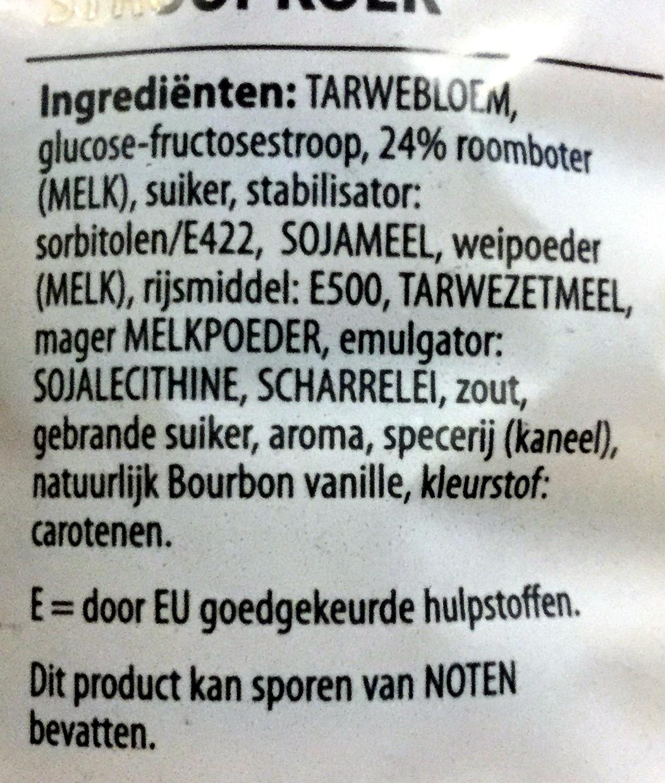 Stroopkoep - Ingrediënten - nl