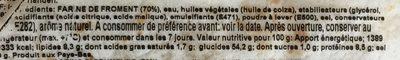 Weizen-tortillas, ø 15CM - Ingrédients