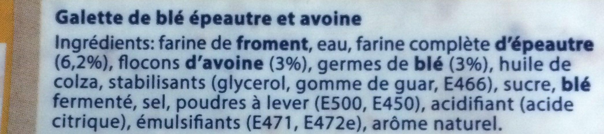 Mission Wraps Epeautre et Avoine - Ingrediënten - fr