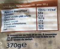 6 wraps multigrains - Nutrition facts