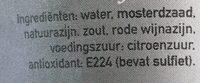 Dijon mosterd scherp - Ingrediënten - nl